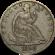 Seated Liberty Dollar 1840 to 1873